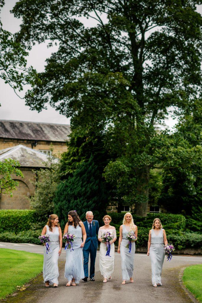 Bride and Bridesmaids at Denton Hall
