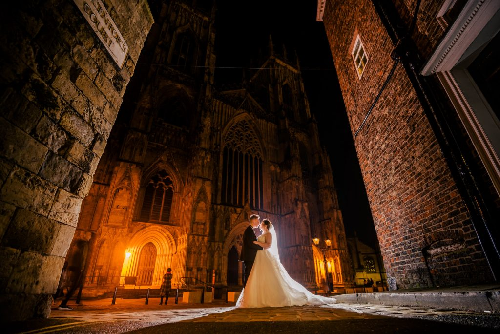 York Minster wedding photo