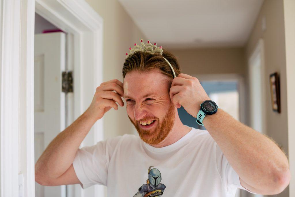 Groom in headband