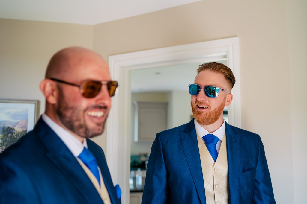 Groom in shades