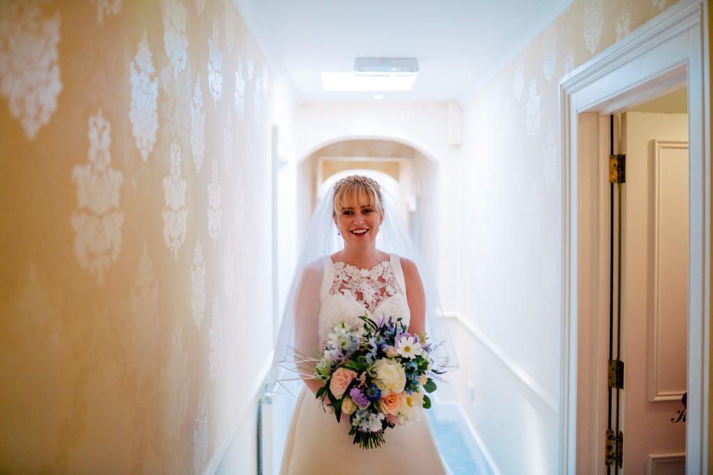 Bride waiting.