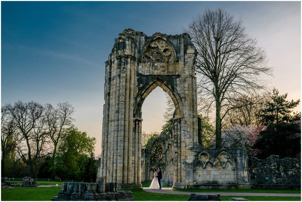 Portraits at York hospitium wedding