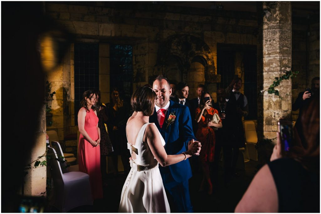first dance at York hospitium wedding