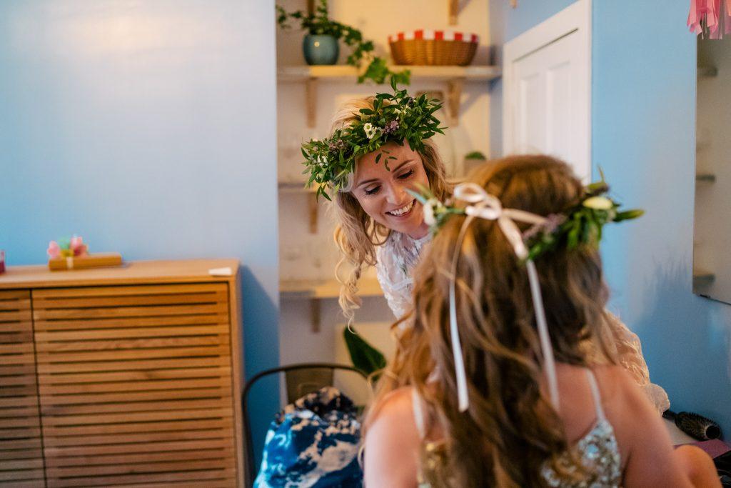 Bridal prep for Yorkshire Wedding