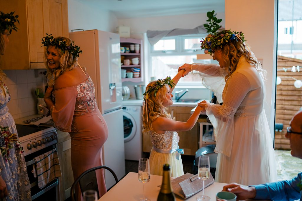 Mother and Daughter Wedding moment