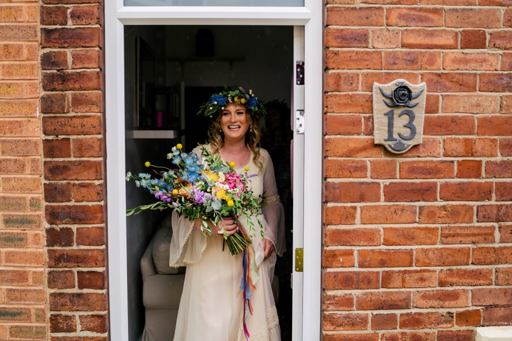 Bride setting off to get married