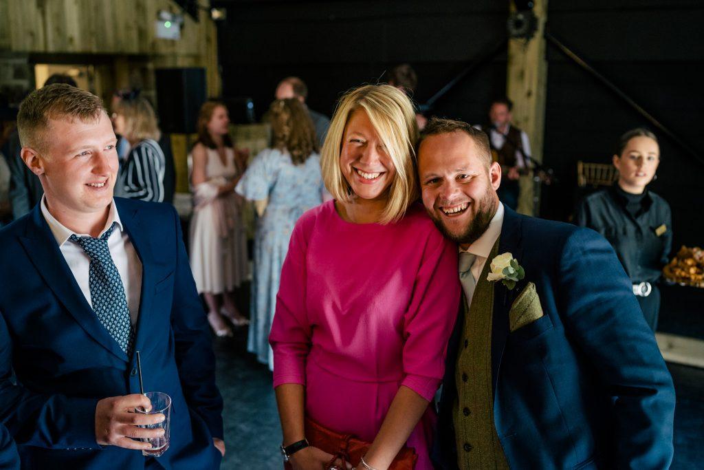 Happy wedding guests