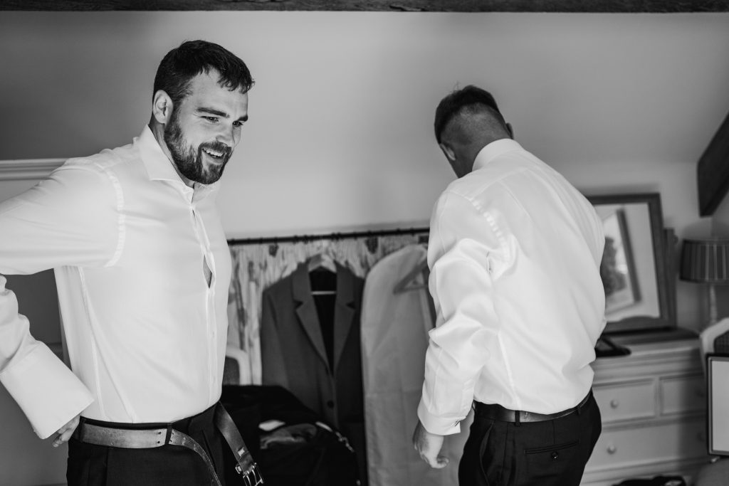 Groom preperation at Danby Castle