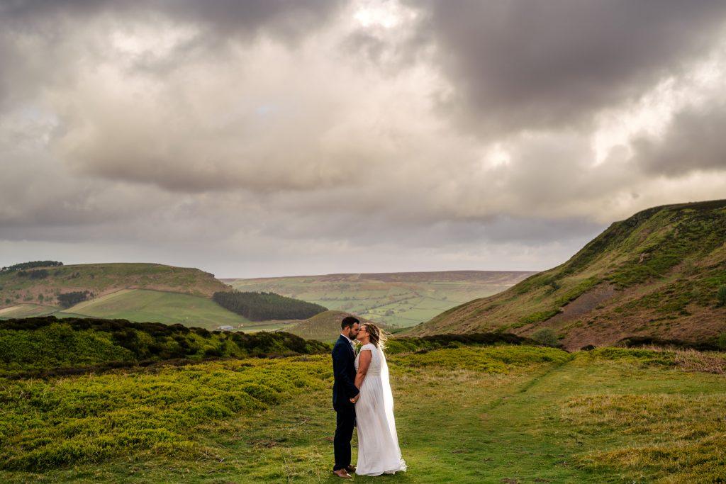 Yorkshire Moors wedding portrait