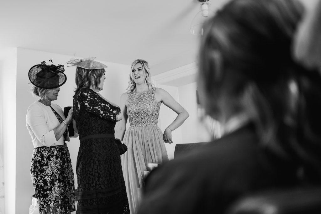 Bridesmaids at Danby Castle