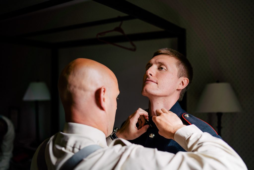 Groom prep at Wheatly Arms