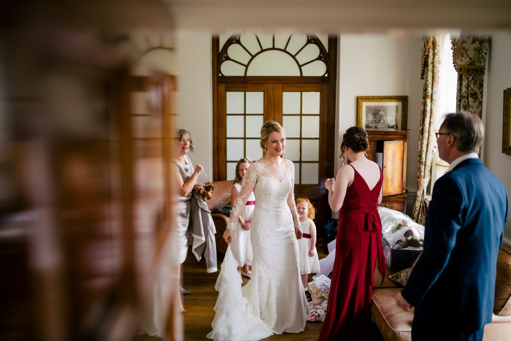 Bride prep at Denton Hall
