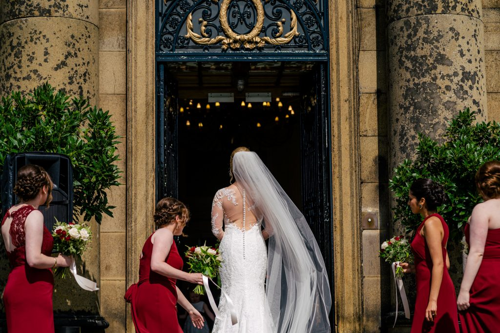 Bride waiting at Denton Hall