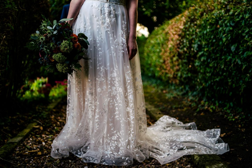Wedding dress details with Paul and Tim Photography