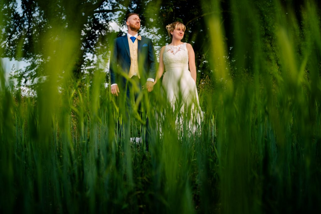 Wedding Portrait in Long grass