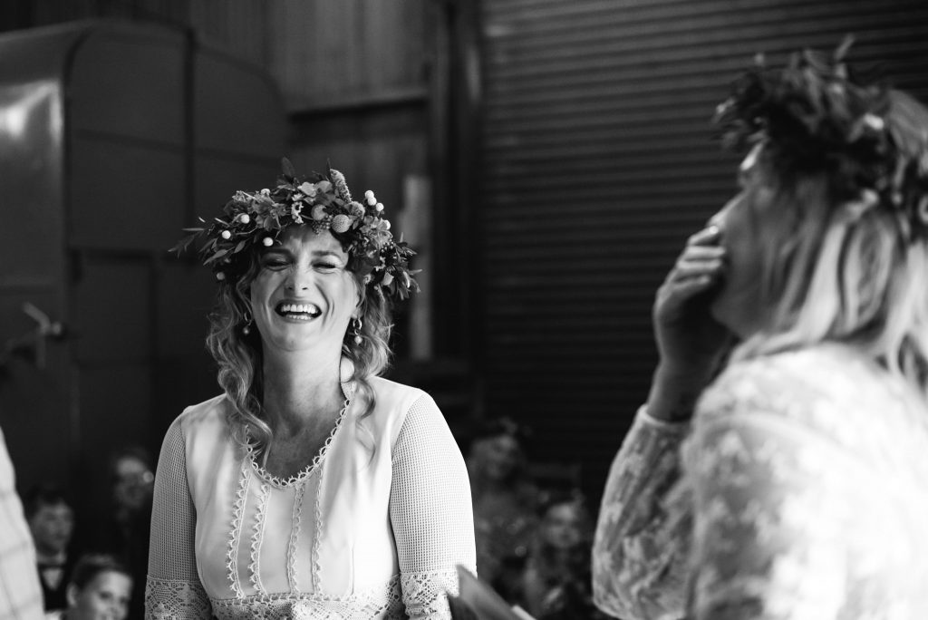 Berts Barrow happy bride in Ceremony