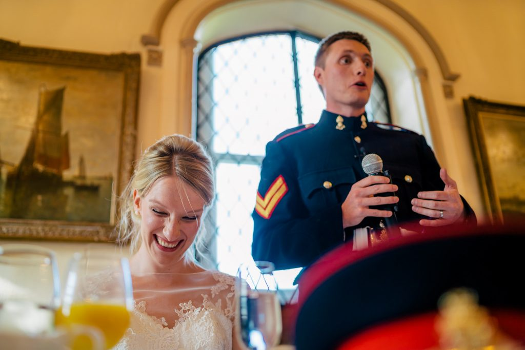Denton hall speeches with Bride and Groom