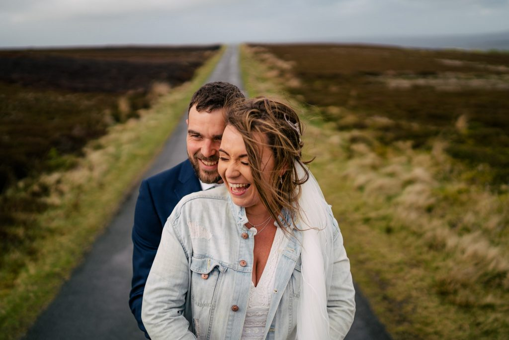 Danby Castle wedding portrait