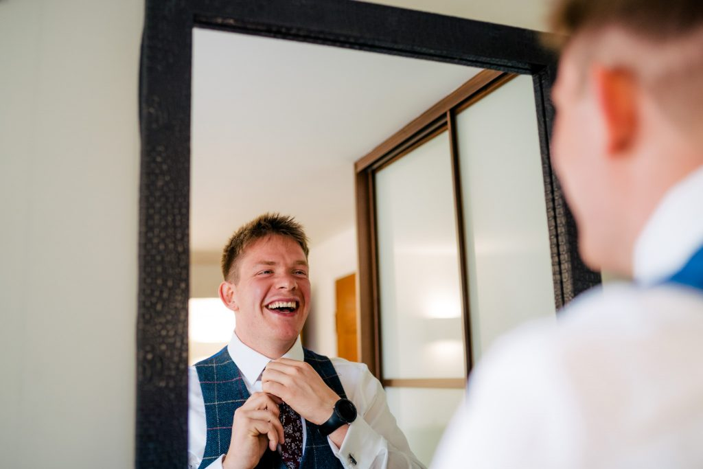 York wedding prep with Paul and Tim Photography