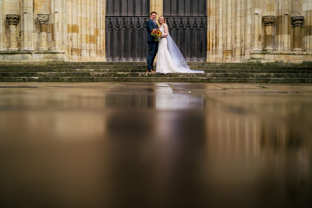 York Minster Wedding portrait with Paul and Tim Photography