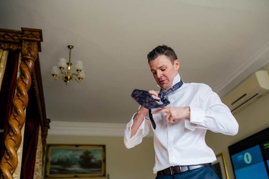 Groom prep at Goldsborough Hall