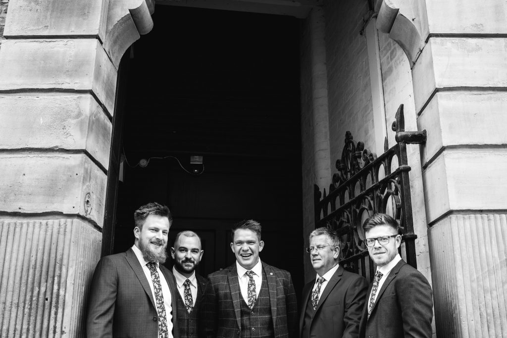 York Wedding groomsmen photo