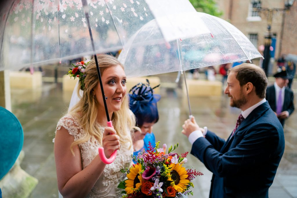 Wet wedding in Yorkshire