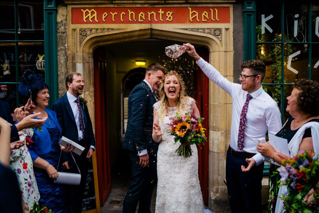 Marchants adventurers hall confetti photo