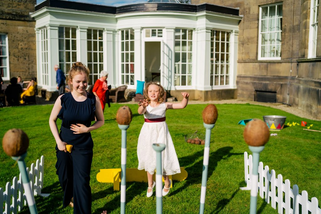 fun wedding games at Denton Hall