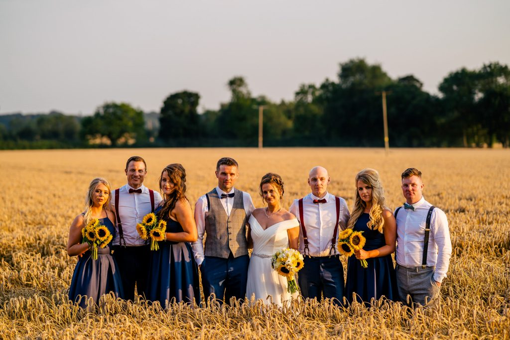 group photos in a corn field