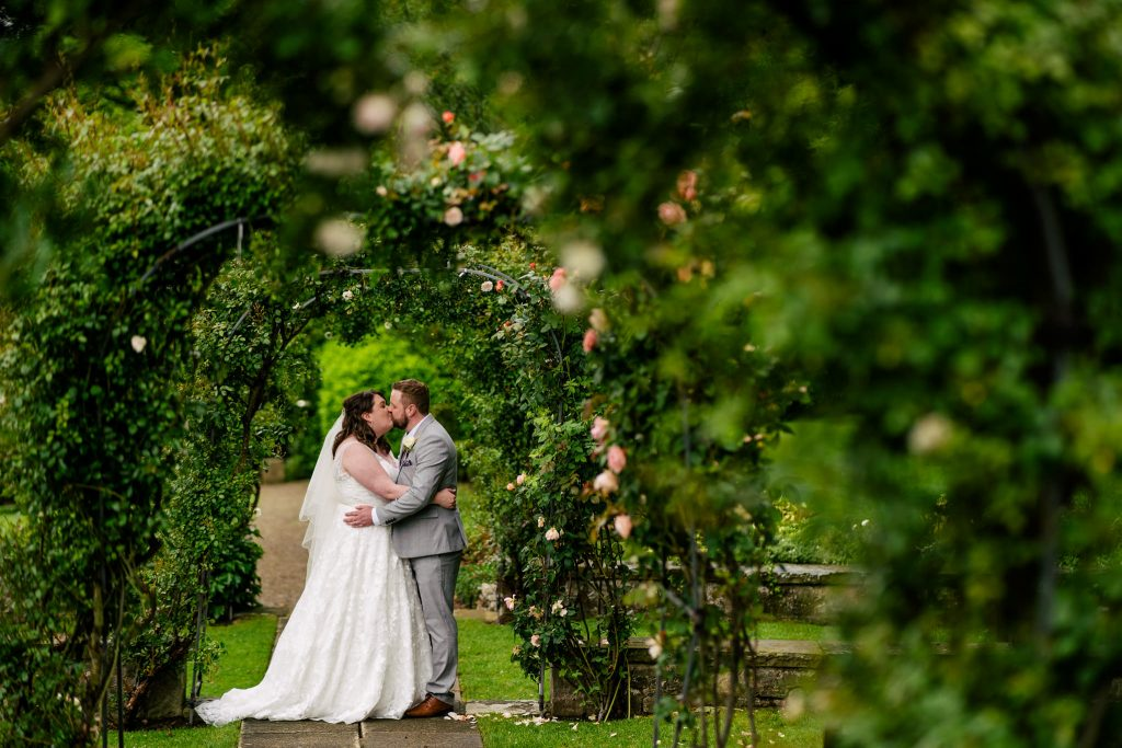 Woodhall hotel and spa wedding portrait