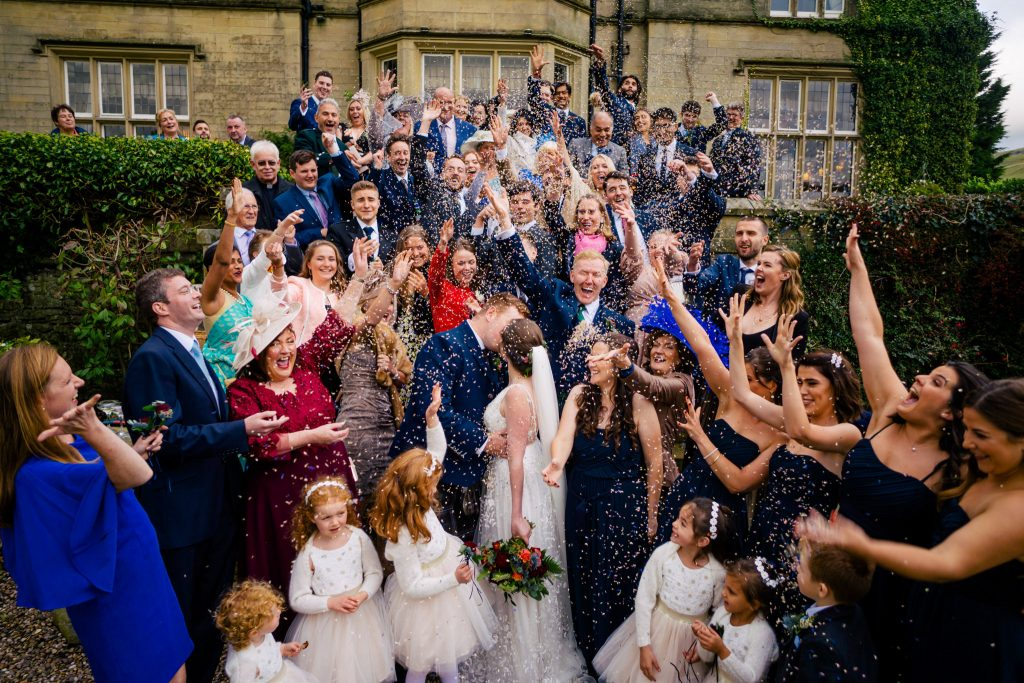 Yorkshire wedding confetti photo
