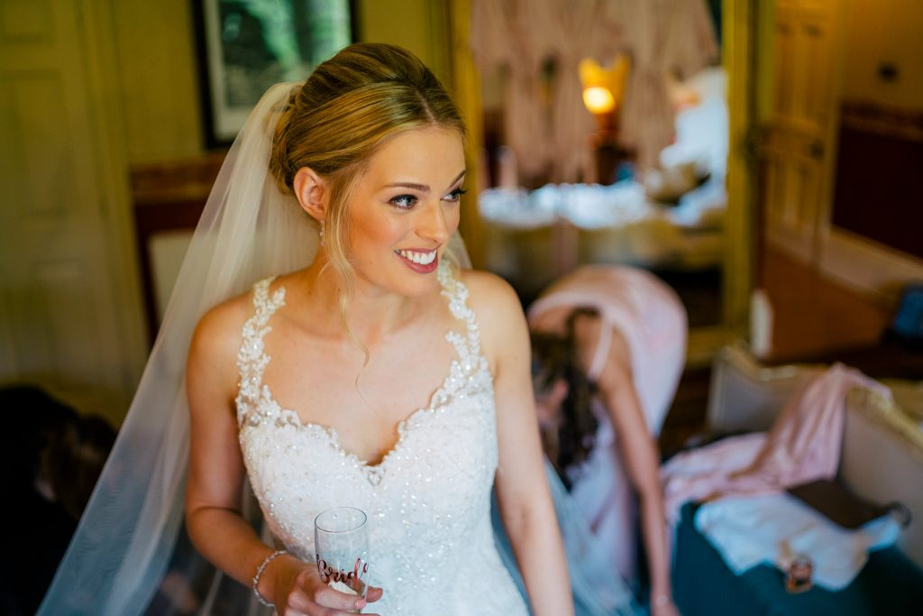 Smiling bride at Crow Hill Wedding