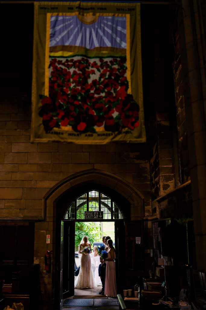 Yorkshire Church wedding entrance