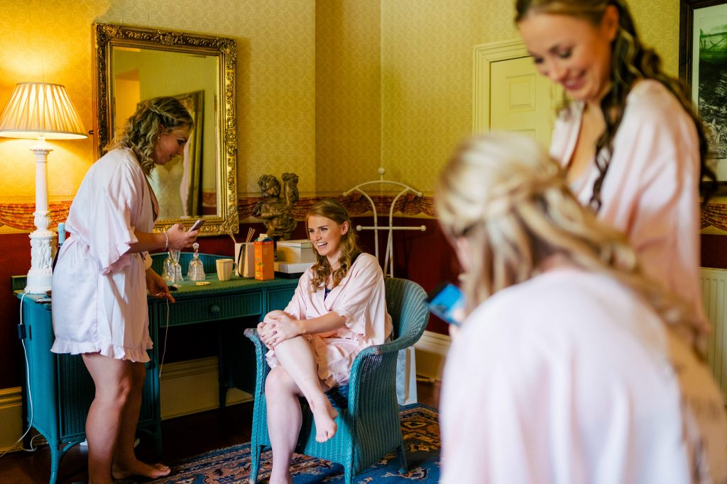 Bridal Preperation at Crow Hill Wedding