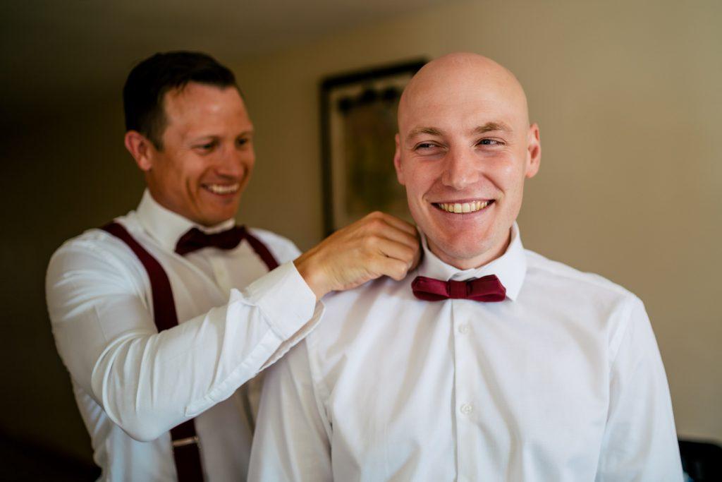 groomsmen in bow tie