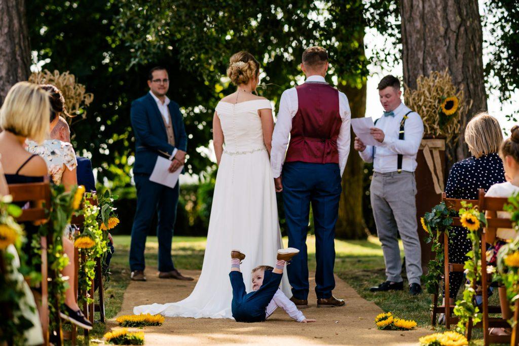 Backyard boho Wedding ceremony