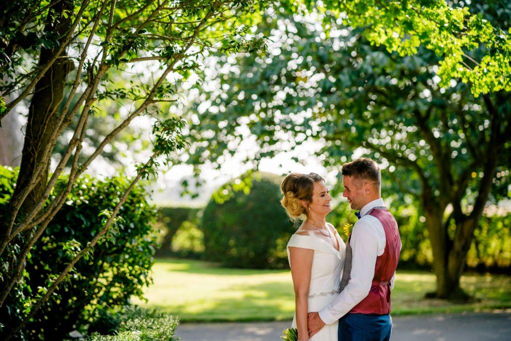 Backyard Boho Wedding portrait