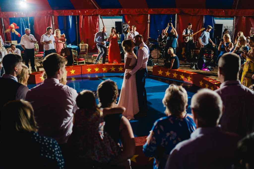First dance at boho wedding